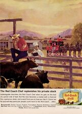 1964 Red Coach Grill at the Cattle Ranch PRINT AD