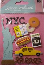 NEW 12 pc NEW YORK Broadway Play Bill Hotdog Taxi Cab NYC Subway JOLEE'S Sticker