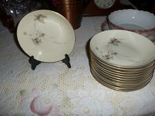 Heinrich H & C SELB BAVARIA GERMANY China Anmut pattern w/ gold trim bowls soup