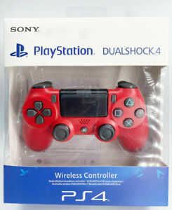 Official Sony PlayStation Dualshock 4 V2 Controller - Magma Red