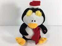 "Gemmy Penguin Expressions of Joy 11"" Xmas Tutti Frutti Moves Eyebrows Video"
