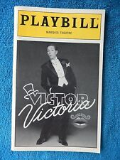 Victor Victoria - Marquis Playbill w/Ticket - March 9th, 1996 - Julie Andrews