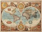 "Vintage Medievil World Map 1626 CANVAS PRINT poster 24""X16"""