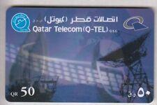 ASIE  TELECARTE / PHONECARD .. QATAR 50QR Q-TEL ANTENNE PARABOLE SATELLITE 005