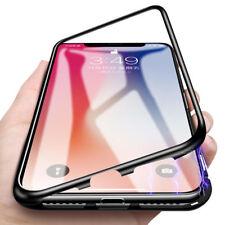 Coque Protection Magnétique Arrière Verre Trempé iPhone 6 6S 7 Plus 8 XR X S MAX