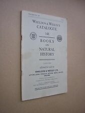 WHELDON & WESLEY'S CATALOGUE 148. BOOKS ON NATURAL HISTORY. 1979.