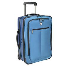 "Sienna Blue 21"" Hybrid Hard Soft Rolling Carry On Wheeled Garment Bag Suitcase"