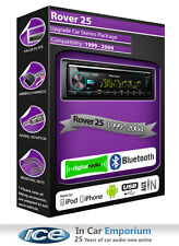 Rover 25 DAB radio, Pioneer car stereo CD USB AUX player, Bluetooth kit