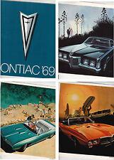 1969 PONTIAC RANGE US Brochure GTO GRAND PRIX BONNEVILLE LE MANS FIREBIRD etc
