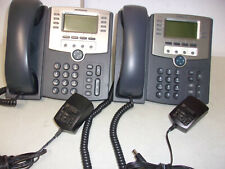 LOT OF 2 CISCO SPA509G IP BUSINESS PHONES WITH POWER SUPPLIES  RESET