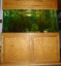 AQUARIUM - FISH TANK *150 GALLON* w/OAK CABINET & CANOPY - FISH, LIZZARD, SNAKE