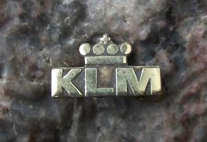 Antique KLM Royal Dutch Airlines Holland Crown Airline Aircraft Brooch Pin Badge