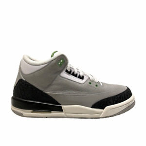 Size 7 - 2018 Jordan 3 Retro Light Smoke Grey Chlorophyll Green Sail 398614 006