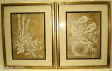 """2 Florals Matching, Original Acrylic Paintings Artist Signed  Framed 24""""x 30"""""""