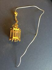 1:12 Scale Dolls House Working Light Candle Brass Carriage Lamp # salvaged