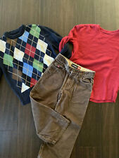 Boy Boys GAP Cherokee Lot Sweater Shirt Coords Pants small S Size 6