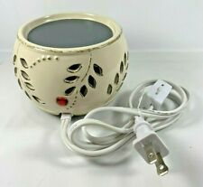 Yankee Candle Electric Wax Tart Ceramic Warmer Base Only Leaf Berry Cutout