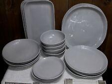 24 Pc. A.M. Shadow Dinnerware Set - Melamine - NSF Stamped - Home or Restaurant