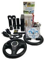 Nintendo Black Wii RVL-001 Bundle Mario Kart Wii Sports Resort Play Super Mario