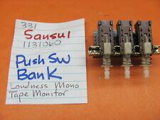 SANSUI 1131060 PUSH SWITCH BANK SANSUI 331 331L 331SS 221 STEREO RECEIVER