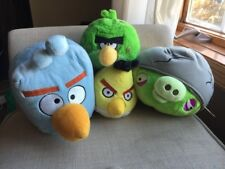 Angry Birds Blue Square Yellow Green Spots Plush Bird Helmet Pig W Sound Lot