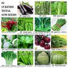 4190+ SURVIVAL HEIRLOOM VEGETABLE FRUIT SEEDS NON GMO ORGANIC FOOD BANK LOT