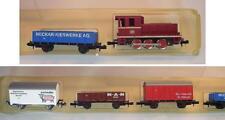 Minitrix Spur N Diesellok mit 4 Wagen der DB OVP #6778