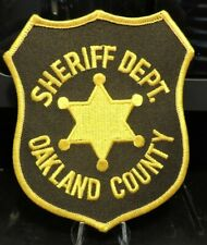 Company Closed, Patch Retired:  Oakland County MI. Sheriff's Office Patch