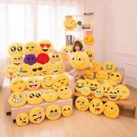 Funny Soft Emoji Yellow Round Cushion Emoticon Stuffed Plush Toys Smiley Pillow