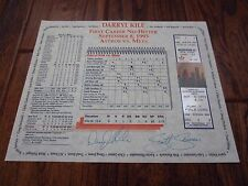 Darryl Kile Astros Full Game Season Ticket No-Hitter 9/8/1993 Signed Certificate