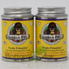 Gorilla PVC Self Priming PVC Cement Purple PrimaGlue 4 Fl Oz Exp:6/21 (2 Pack)