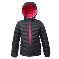 Rokka&Rolla Girls' Ultra Lightweight Hooded Packable Puffer Down Jacket Outwear