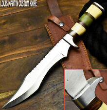Louis Martin Handmade D2 Tool Steel Camel Bone Hunting Bowie Knife