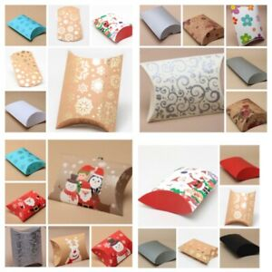Christmas Gift Box Pillow Pack Bag Present Wrapping Gift Wrap Jewellery Box Eve