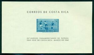 Costa Rica Scott #C289 MNH S/S 3rd Pan-American Soccer Games CV$6+