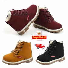 2020 Kids Warm Autumn Winter Boots Fur Lined Children Shoes Boys Girls Shoes UK