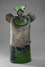 Guardian Angel, Unique, Handmade Ceramic Angel Sculpture, Figurine
