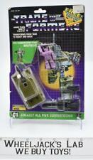Brawl Cardback W BUBBLE 100% Complete Vintage 1986 G1 Transformers Action Figure
