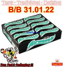 Full Box of 30 Wrigleys Airwaves Black Mint Blackmint Sugar Free Chewing Gum 2