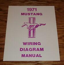 1971 Ford Mustang Wiring Diagram Manual Brochure 71