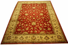 Real Rug Brick Manufacture 375x281 CM 100% Wool Hand Knotted Red