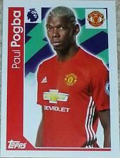 195 Paul Pogba MANCHESTER UNITED 2016/2017 Topps Merlin Premier League sticker