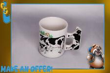 Vintage Holstein Cow Coffee Cup Mug Cow Handle Farm Grazing