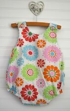 Baby Girls BEEHAVE Sz 9m Sleeveless Floral Bubble Romper Pink Blue Green