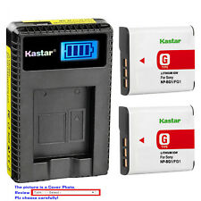 Kastar Battery LCD Charger for Sony NP-BG1 NP-FG1 Sony Cyber-shot DSC-H9 Camera