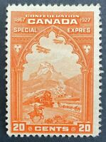 MLH F SC#E3 - 20c orange Confederation issue Special Delivery Fresh Example ST8