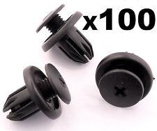 100x Mini Wheel Arch Lining, Splashguard, Bumpers & Sideskirt Plastic Trim Clips