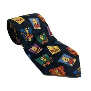 WINNIE THE POOH NECKTIE TIE  FREE SHIPPING IN THE USA - . AND TIGGER TOO!  EUC!