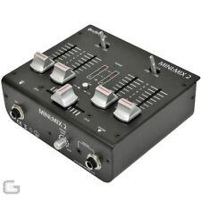 Mezcladores para DJ y espectáculos 2 canales
