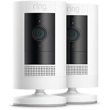 (2-Pack) Ring Stick Up Cam Battery Security Camera w/ Two-Way Talk - 2019 Model